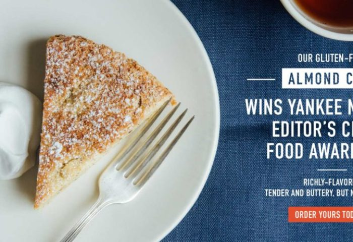 Almond Cake Wins Yankee Magazine 2017 Editors Choice Food Award