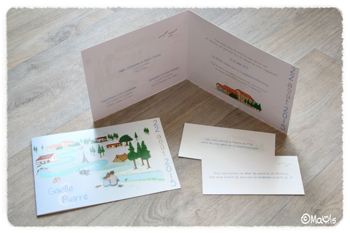 ©MaYFaitDesGribouillis - www.mayfaitdesgribouillis.com - Faire-Part de mariage - Wedding Invitation