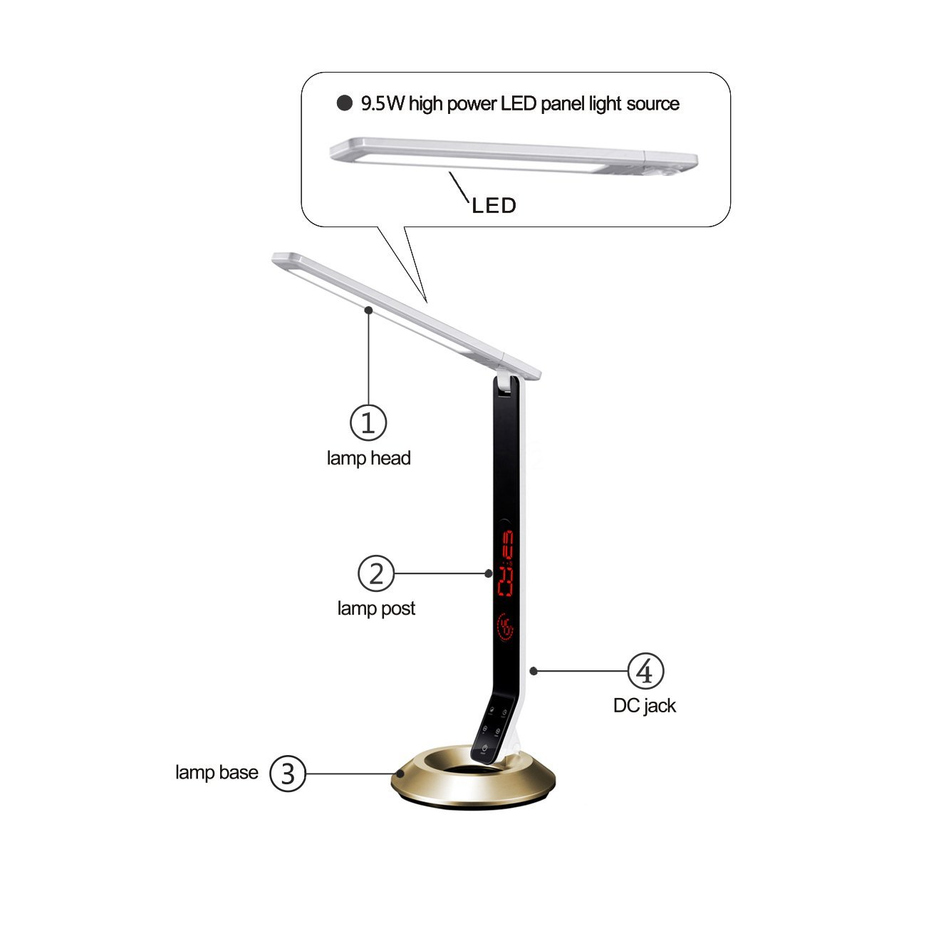 Dimmable Led Table Lamp Factory Led Reading Lamp Company