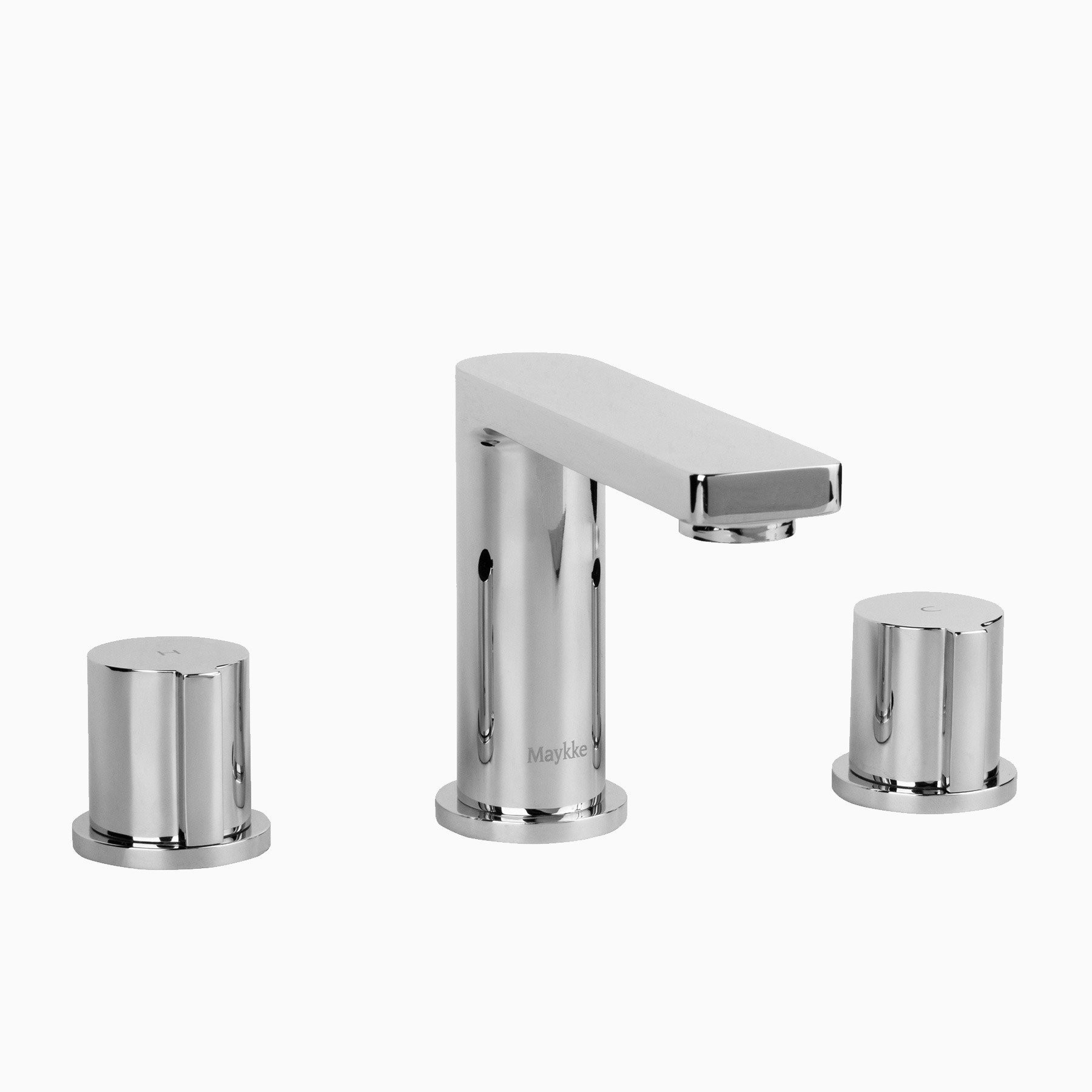 friedrich three piece 8 widespread sink faucet polished chrome