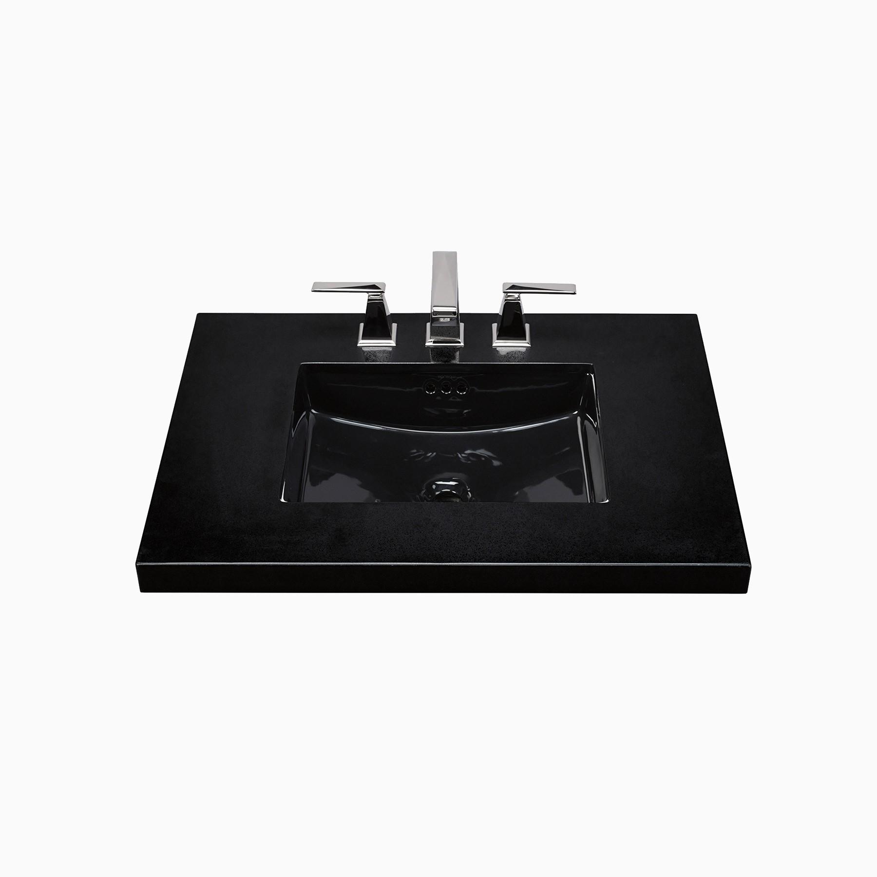 19 daniel rectangular ceramic undermount bathroom sink black