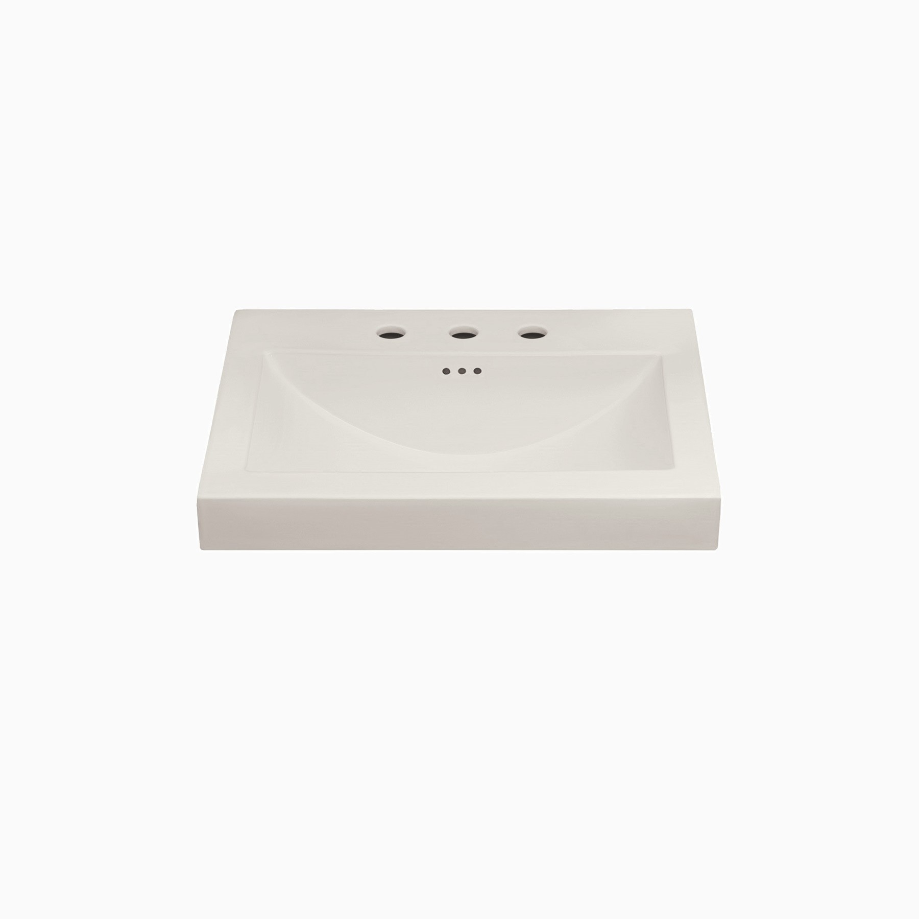 24 w x 20 d leith ceramic single vanity top with integrated sink and 8 widespread faucet hole biscuit