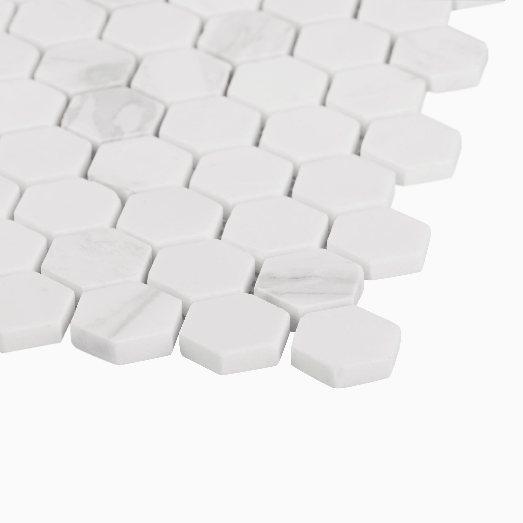 cooper 10 pack small hexagon mosaic wall and floor tile volakas white marble