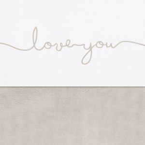Jollein laken wieg 75x100cm - Love you - nougat
