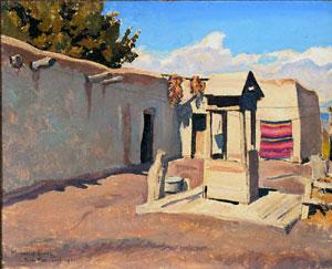 Maynard Dixon Biography Old Patio Maynard Dixon New Mexico September 1931
