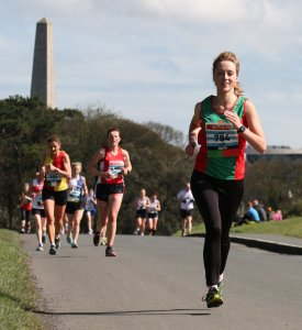 Aine Gallagher going well mid race