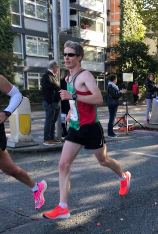First Mayo AC finisher John Higgins on course for a 2:39.52 personal best