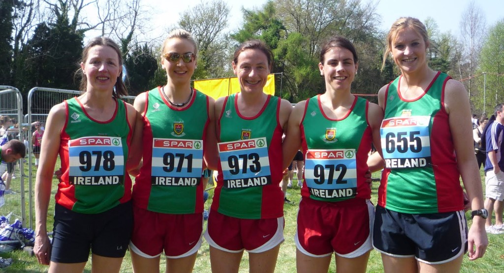 Reeling in 2011: at National 10k April 10: l-r Mary Naylor, Catherine Conway, Colette Tuohy, Mary Gleeson, Sarah Byrne