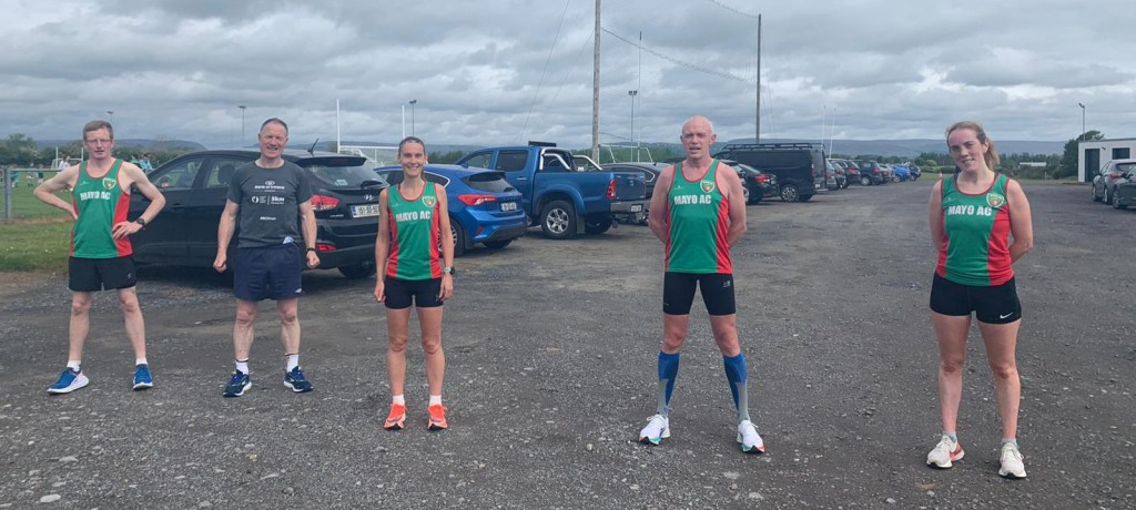 Mayo AC five at Curry: l-r Gerry, Johnny, Paula, Stephen and Maria