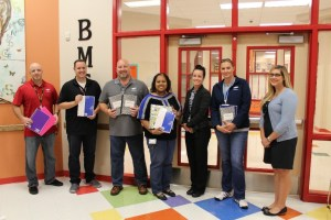 Samsung Employees dropping off supplies at Blake Manor Elementary