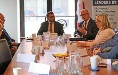 Mayor Drew Dilkens hosts roundtable with Parliamentary Secretary Omar Alghabra