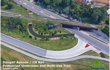 Dougall Avenue pedestrian underpass and multi-use trail project