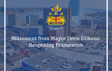 Statement from Windsor Mayor Drew Dilkens June 22, 2020
