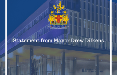 Statement from Windsor Mayor Drew Dilkens: Funding for Municipalities