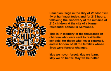 Flags at Half-Mast in Memory of Residential School Children and Families