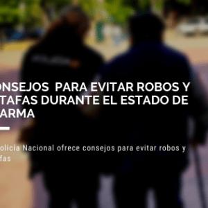 Policia Nacional consejos covid19
