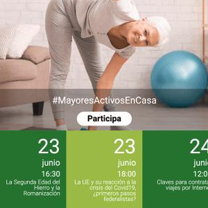 """Del 22 al 26 de junio, nuevos talleres y charlas online en la iniciativa""""Mayores Activos en Casa"""" de Canal Sénior"""