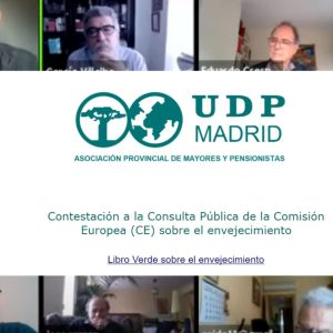 UDP Madrid reflexiona sobre la Consulta Pública de la Comisión Europea (CE) sobre el envejecimiento