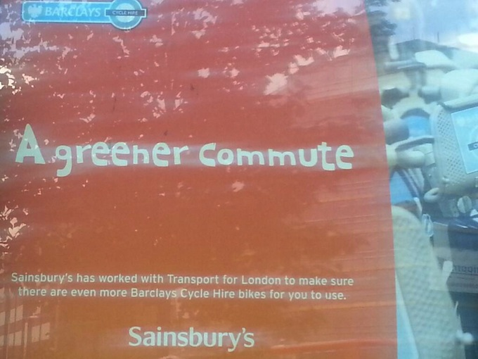 Sainsbury's joins the list of Cycle Hire funders
