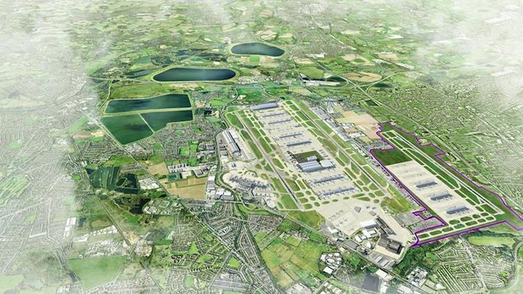 An artist's impression  of a proposed third runway at Heathrow. Image: Heathrow Airports Limited