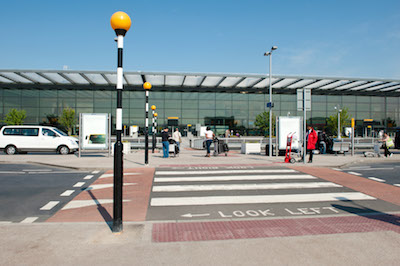 A zebra crossing outside Terminal 4. Image: Heathrow Airports Limited