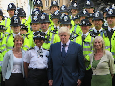 The Mayor joined Borough Commander Alison Newcomb and officers to mark the squad's first day.