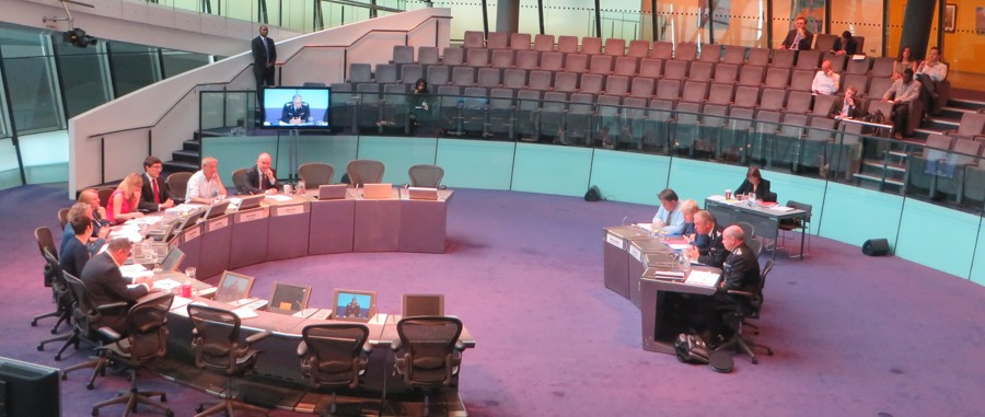The London Assembly's police & crime committee questioning the and Met Commissioner at City Hall.
