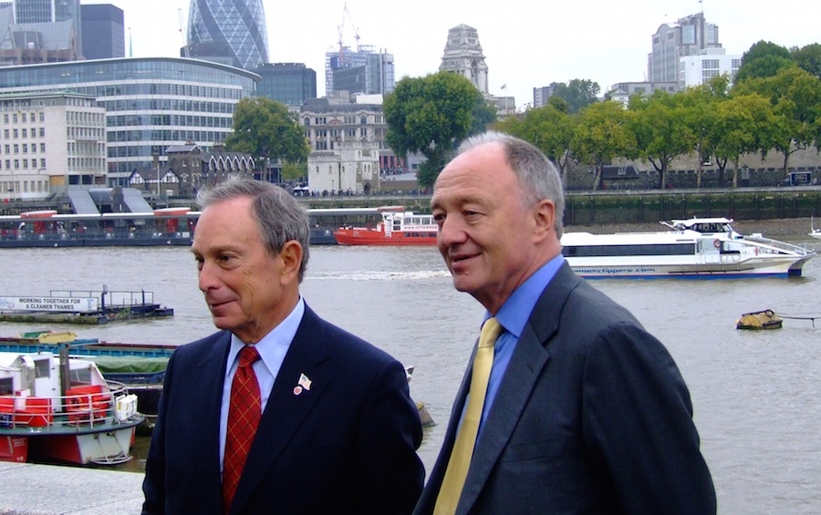 Mayor Bloomberg with former London Mayor Ken Livingstone.