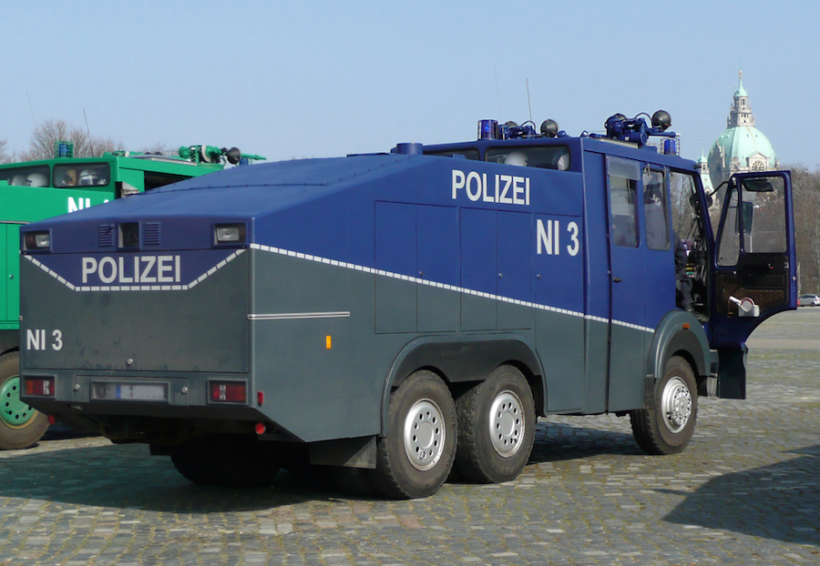 The Mayor purchased three of the Ziegler Wasserwerfer 9000 water cannon.  Image: Foto: Axel Hindemith