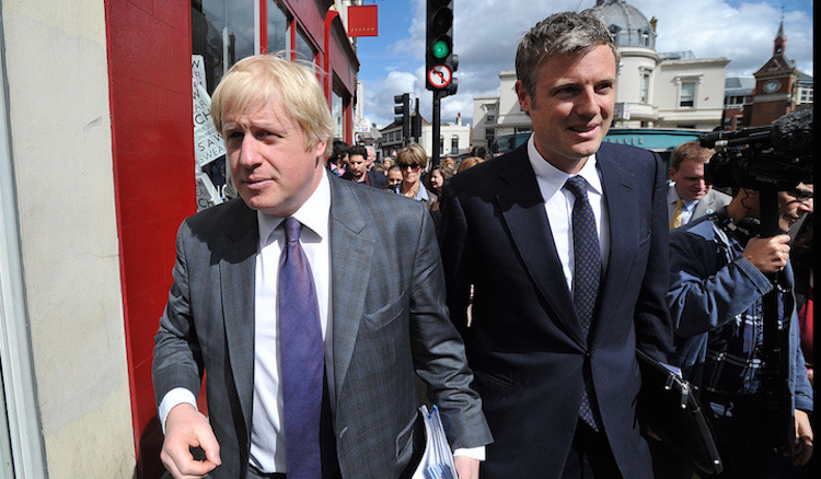 Boris Johnson, the Mayor of London and Zac Goldsmith on a walk about in Richmond. Photo: Andrew Parsons/i-Images