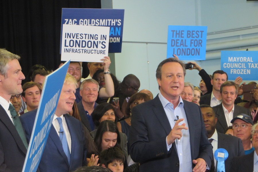 "Cameron and Boris join forces to urge party supporters and London voters to ""Back Zac"""