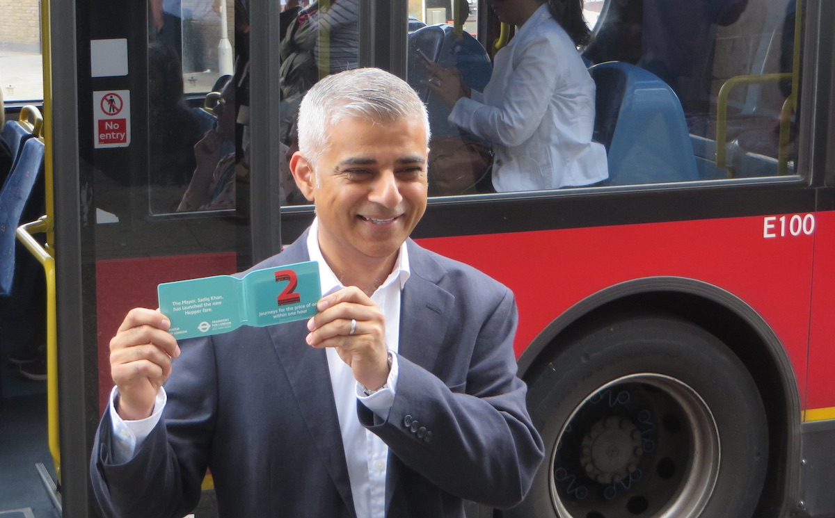 Mayor Khan launched the Hopper in Tooting.