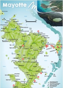 La carte de mayotte