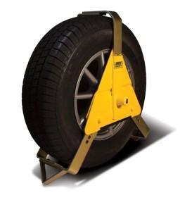 triangular wheel clamp