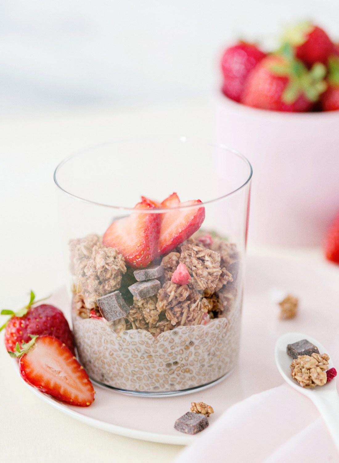 Simple Almond Chia Seed Parfait Recipe