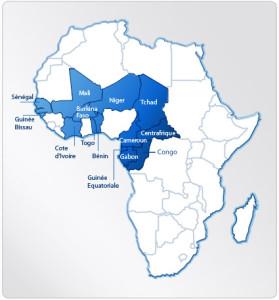 Pays de la zone CFA