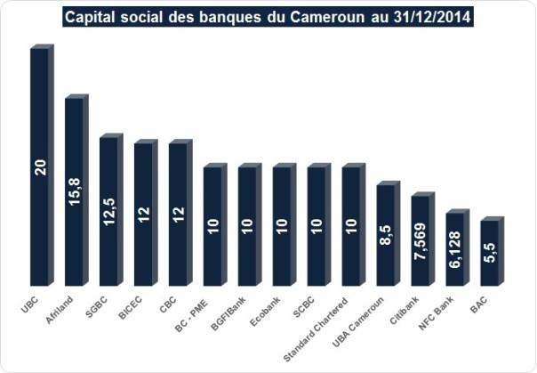 Capital social des banques camerounaises (cliquer pour agrandir)