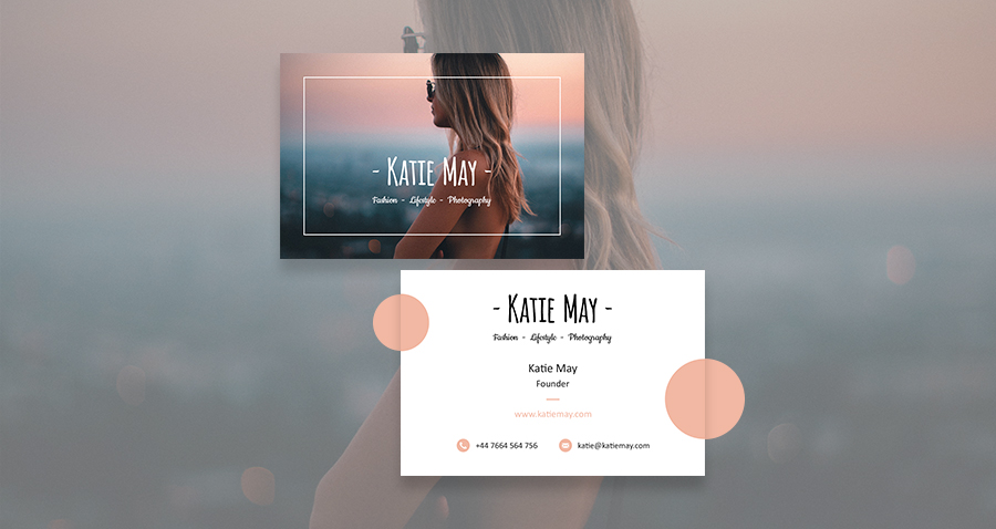 Fashion photography business card template may smith media katie may fashion photography business card template cheaphphosting Choice Image