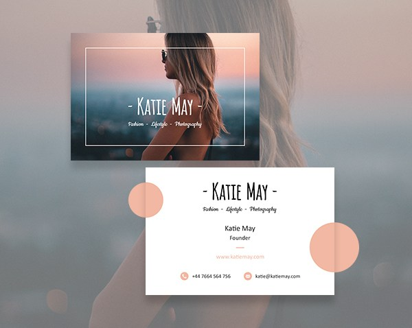 Fashion Photography Business Card Template May Smith Media - Photography business cards templates