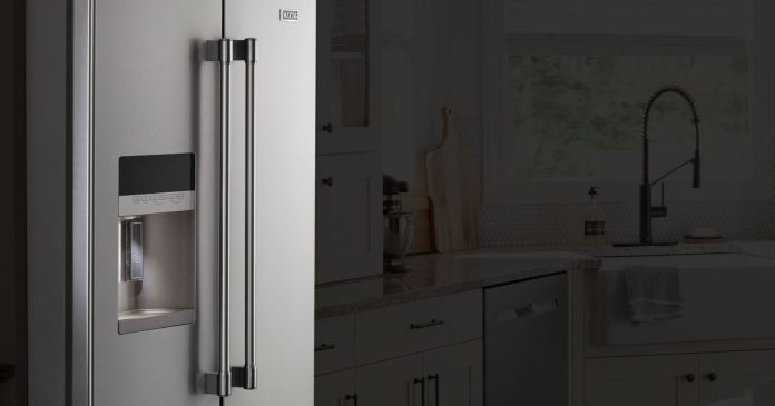 Fingerprint Resistant Stainless Steel 36 Inch Wide French Door Refrigerator With Powercold Feature 25 Cu Ft Mfi2570fez Maytag