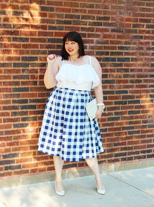 eloquii-white-ruffle-crop-blue-gingham-skirt-1