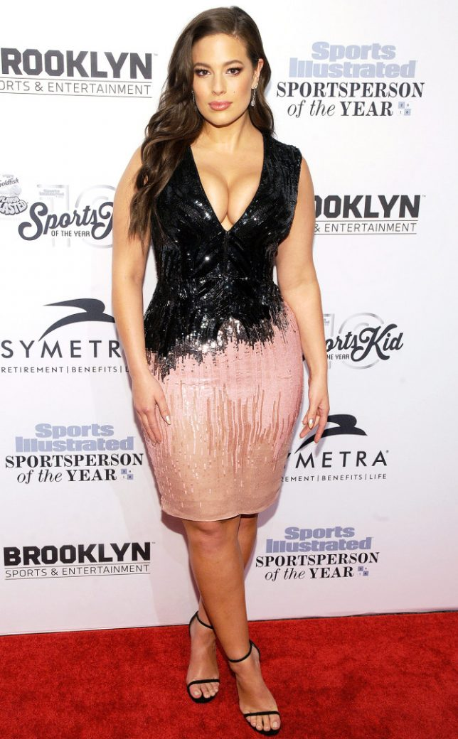 Guests spotted at the Sports Illustrated Sports Person of the Year Gala, held at the Barclays Centre in Brooklyn, New York City, New York. Pictured: Ashley Graham Ref: SPL1409915 121216 Picture by: Jackie Brown/Splash News Splash News and Pictures Los Angeles:310-821-2666 New York: 212-619-2666 London: 870-934-2666 photodesk@splashnews.com