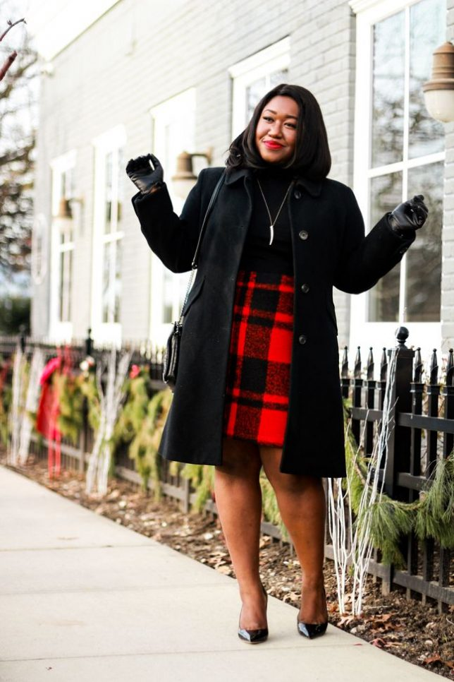 how-to-wear-plaid-skirt-holiday-2016-plus-size-fashion-blog