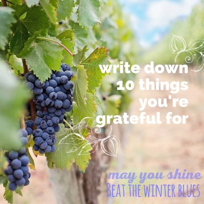 How to Beat the Winter Blues Tip: Write Down 10 Things You're Grateful For
