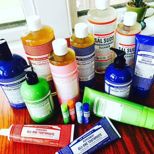 Dr. Bronner's soaps, skincare and home care products