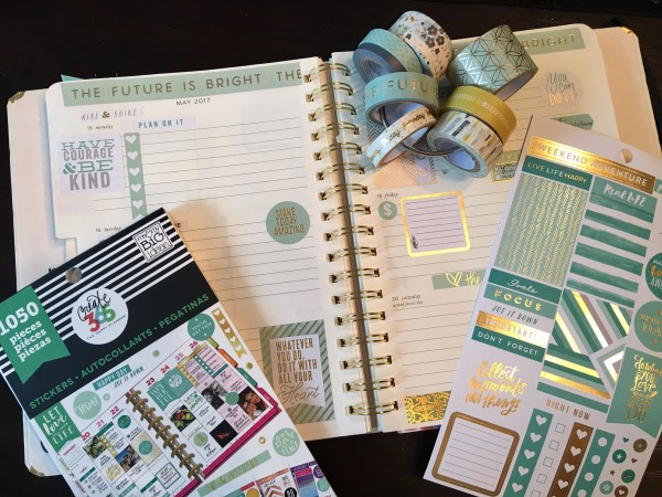 Kate Spade Planner with Michaels Recollections and Me & My Big Ideas Stickers