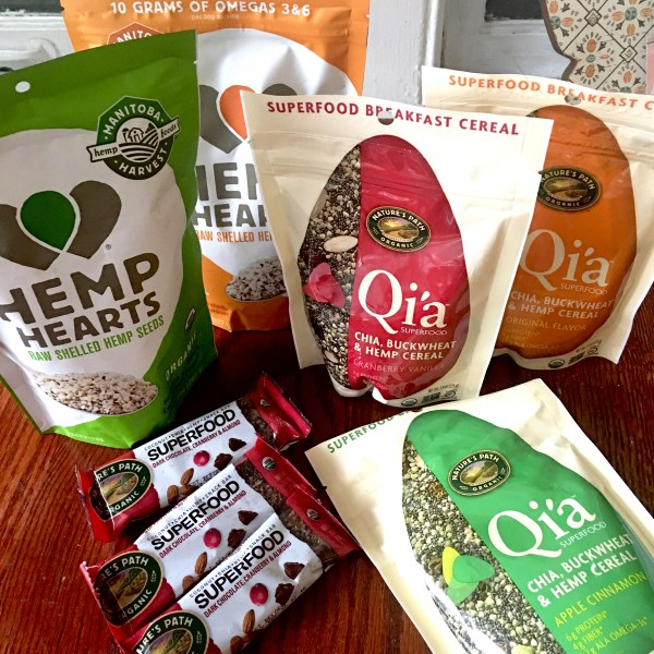 Hemp Hearts, Nature's Path Hemp Superfood Bars, Q'ia Superfood Cereals