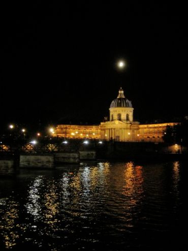 The Institut de France at Night, reflected in the Seine