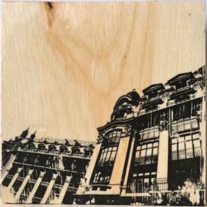 The beautiful art nouveau architecture of rue de Reaumur in Paris, France.