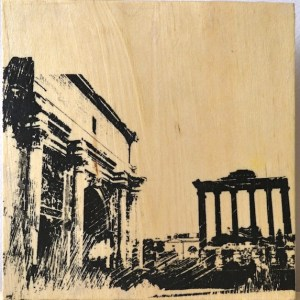 Ancient architecture in the Roman Forum, Italy